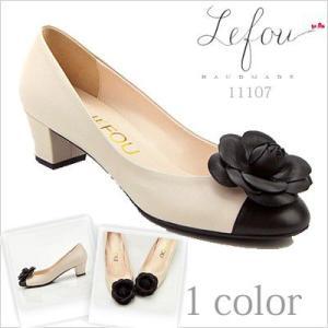 コサージュ 靴 レディース パンプスフラワーモチーフバイカラーパンプス le11107 2013 新作|little-globe