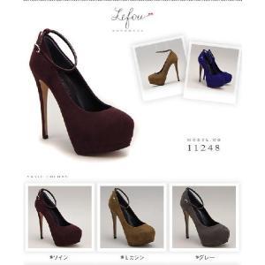 ラウンドトゥ 大きいサイズ 靴 レディース パンプスストラップつきピンヒール le11248 2013 新作 little-globe 02
