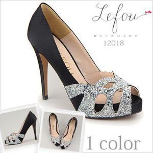 大きいサイズ 靴 レディース ビジュー パンプスオープントゥ le12018 2013 新作|little-globe