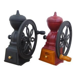 熟練の職人による手作りコーヒーミルです。本体は鋳鉄製のため重量があり、力をいれずに豆を挽くことができ...
