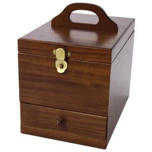 茶谷産業 日本製 Wooden Case 木製コスメティックボックス 017-513|little-trees