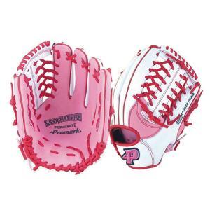 Promark プロマーク グラブ グローブ ソフトボール一般 レディースオールラウンド用 Mサイズ ピンク×ホワイト PGS-3157|little-trees