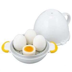 たまごと水を入れて電子レンジで加熱するだけで簡単にゆで卵が作れます。 製造国:日本 素材・材質:本体...
