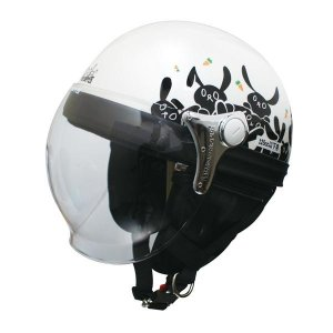 スクーターなど小さなバイクと相性が良いヘルメットです。深くかぶれて頭にフィットするのでかぶり心地は快...