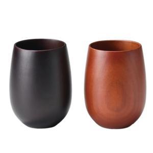 手になじむ木製のあたたかさが魅力のペアカップです。 製造国:中国 素材・材質:天然木・ポリウレタン塗...