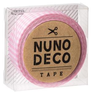 KAWAGUCHI(カワグチ) 手芸用品 NUNO DECO ヌノデコテープ ももいろチェック 11-842|little-trees