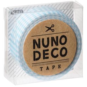 KAWAGUCHI(カワグチ) 手芸用品 NUNO DECO ヌノデコテープ みずいろチェック 11-843|little-trees