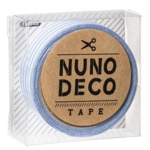 KAWAGUCHI(カワグチ) 手芸用品 NUNO DECO ヌノデコテープ みずいろしましま 11-848|little-trees