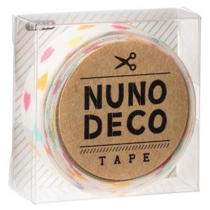 KAWAGUCHI(カワグチ) 手芸用品 NUNO DECO ヌノデコテープ しろいカラフルハート 11-852|little-trees