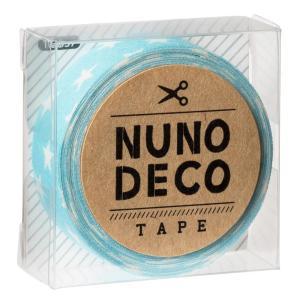 KAWAGUCHI(カワグチ) 手芸用品 NUNO DECO ヌノデコテープ みずいろスター 11-857|little-trees