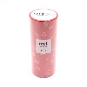 mt マスキングテープ 8P 紅菊 MT08D418