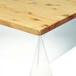 KMGK-1820 3点機能付透明テーブルカバー 120cm×200cm×0.18mm 透明 little-trees