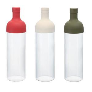 ワインのように食事の時に水出し茶を楽しんでいただきたいという思いからできた、ワインボトル型のフィルタ...