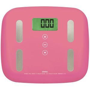 【商品名】 dretec(ドリテック) 体重体組成計「ピエトラプラス」 BS-238PK ピンク