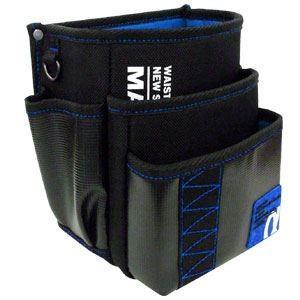 (まとめ)電工ポケット WAIST GEAR 〔腰袋三段タイプ×2セット〕 ブルー(青) マーベル MDP-93AB|little-trees