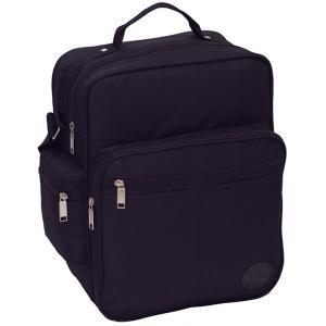マチが広いのでA4サイズ書類 弁当箱などが 楽々入るビジネスバッグ IK8110 ブラック|little-trees