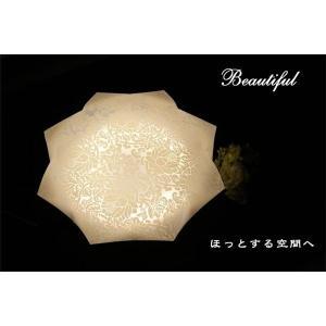 シーリングライト(照明器具) LEDタイプ/自然光色 花柄/八角形 〔リビング照明/ダイニング照明〕〔代引不可〕