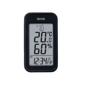 TANITA デジタル温湿度計 ブラック 100-04G〔代引不可〕