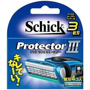 (まとめ)シック(Schick) プロテクタースリー替刃(4コ入) 〔×12点セット〕 little-trees