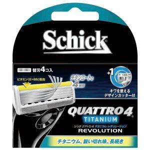 (まとめ)シック(Schick) クアトロ4チタニウムレボリューション替刃(4コ入) 〔×12点セット〕 little-trees