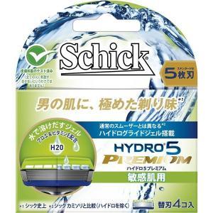 (まとめ)シック(Schick) ハイドロ5プレミアム 替刃 敏感肌用(4コ入) 〔×12点セット〕|little-trees