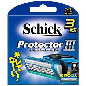 (まとめ)シック(Schick) プロテクタースリー替刃(8コ入) 〔×12点セット〕|little-trees