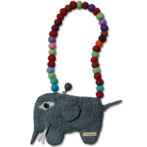 キッズバッグ・キッズポシェット/KID'S BAG/elephant bag(エレファントバック)Sサイズ/EN GRY&SIF(エングリーシフ)|little