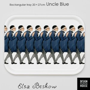 エルサべスコフ・トレイ20×27cm/Uncle Blue(青おじさん)・DESIGN HOUSE stockholm(デザインハウス ストックホルム)|little