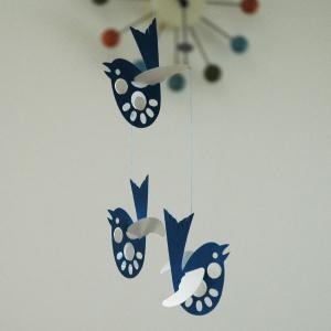 モビール・Blue Bird(ブルーバード)/Livingly(リビングリー)/北欧デンマークモビール|little