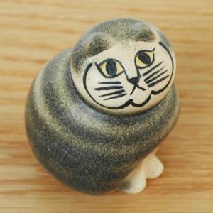 Lisa Larson(リサ ラーソン)/MIA cat(ネコ)グレー・ミニサイズ/北欧オブジェ・置物|little
