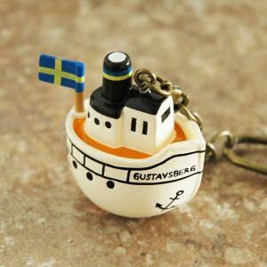 リサラーソンLisa Larson・キーホルダー/Boat(ボート)|little