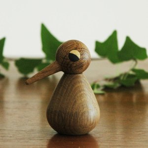 Architectmade(アーキテクトメイド)Bird/スモールサイズ/スモークオーク/木製オブジェ・置物/北欧デンマーク|little