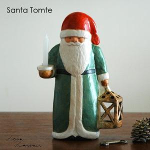 Lisa Larson(リサ ラーソン)Santa Tomte(サンタ・トムテ)サンタクロース キャンダルホルダー北欧オブジェ・置物|little