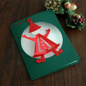 モビールクリスマスカード・Nisse(ニッセ)/クリスマスカード/Livingly(リビングリー)北欧デンマーク|little