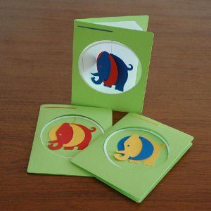 グリーティングカード・Elephant(エレファント)/モビール付きカード/Livingly/北欧デンマーク|little
