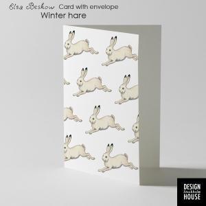 エルサべスコフ・カード・Winter Hare(冬の野うさぎ)・DESIGN HOUSE stockholm(デザインハウス ストックホルム) little