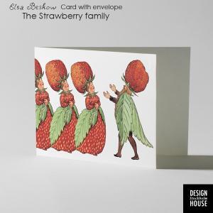 エルサべスコフ・カード・The Strawberry family(ストロベリーファミリー)・DESIGN HOUSE stockholm(デザインハウス ストックホルム)|little