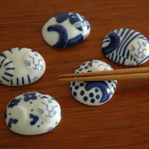 ごのねこ箸置き5個セット/有田焼/Lisa Larson(リサラーソン)JAPAN Series|little