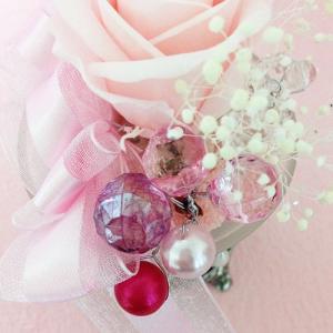 アンティークなガラスの花器のプリザーブドフラワーの贈り物ミルフィーユ、プレゼント /誕生日/母の日/記念日/送料無料 lpm0008 イメージ3