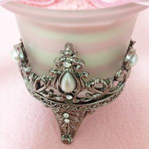 アンティークなガラスの花器のプリザーブドフラワーの贈り物ミルフィーユ、プレゼント /誕生日/母の日/記念日/送料無料 lpm0008 イメージ4