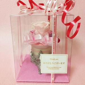 アンティークなガラスの花器のプリザーブドフラワーの贈り物ミルフィーユ、プレゼント /誕生日/母の日/記念日/送料無料 lpm0008 イメージ6