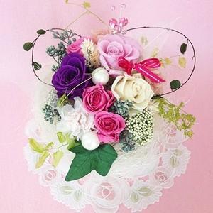 プリザーブドフラワー ガーデンパーティーは、ハートの贈り物/結婚祝い/母の日/記念日/誕生日プレゼント送料無料  lpm0015 イメージ1