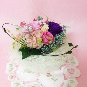 プリザーブドフラワー ガーデンパーティーは、ハートの贈り物/結婚祝い/母の日/記念日/誕生日プレゼント送料無料  lpm0015 イメージ3