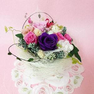 プリザーブドフラワー ガーデンパーティーは、ハートの贈り物/結婚祝い/母の日/記念日/誕生日プレゼント送料無料  lpm0015 イメージ4