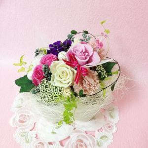 プリザーブドフラワー ガーデンパーティーは、ハートの贈り物/結婚祝い/母の日/記念日/誕生日プレゼント送料無料  lpm0015 イメージ5