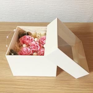 プリザーブドフラワーのフラワーボックスピンクインテリアとして贈り物/プレゼント/送料無料 lpm0016 イメージ4