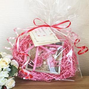 プリザーブドフラワーのフラワーボックスピンクインテリアとして贈り物/プレゼント/送料無料 lpm0016 イメージ6