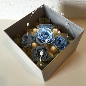 フラワーボックスブルーインテリアとして贈り物/プレゼント/父の日送料無料 lpm0017 イメージ1