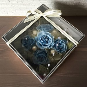 フラワーボックスブルーインテリアとして贈り物/プレゼント/父の日送料無料 lpm0017 イメージ2