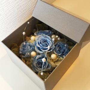フラワーボックスブルーインテリアとして贈り物/プレゼント/父の日送料無料 lpm0017 イメージ3